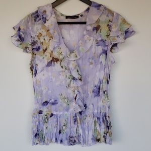 Anthropologie Violet & Claire Ruffle Blouse size M